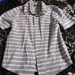 Light Blue Striped Collared Shirt